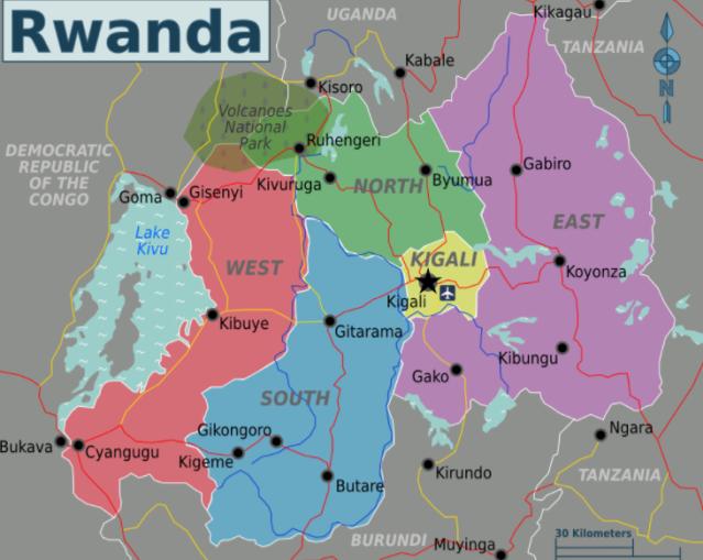 Rwanda Map 2018