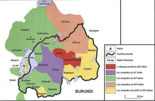 Rwanda Map before 1885